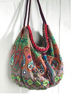 Bohemian bag colorful hippie