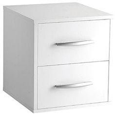 Cubo Decorativo BCB com 2 Gavetas Branco - BRV Móveis