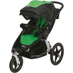 Graco Relay Click Connect Jogging Stroller, Fern, Green