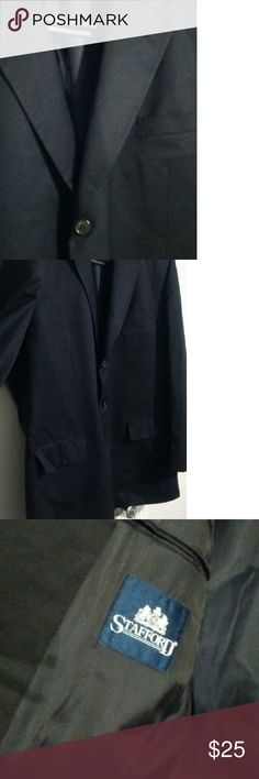 Black Blazer Pair this Stafford Black 3 button blazer with slacks or dress it down with jeans. Size 50R Stafford  Suits & Blazers