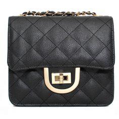 Leather Mini Crossbody Bag Square Mini Shoulder Bag 3 Colors at doozybag.com