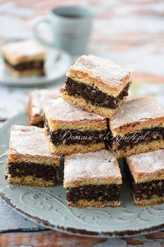 Delicious Cake Recipes, Yummy Cakes, Sweet Recipes, Polish Desserts, Polish Recipes, Jam Cookies, Chocolate Chip Cookies, Pineapple Coconut Bread, Cheesecake Pops