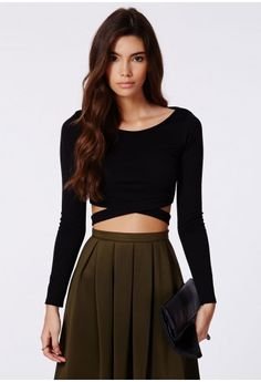 1476b1396caeca Chara Bandage Waist Crop Top - tops - crop tops - missguided Missguided Tops