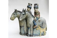 Pottery Sculpture, Bird Sculpture, Clay Sculptures, Ceramic Design, Pet Birds, Amanda, Initials, Marvel, Horses