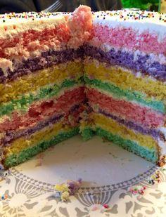 Rainbow inside the 19th bday cake