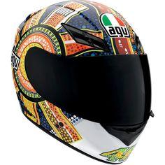New AGV Dreamtime Valentino Rossi 46 Full Face Motorcycle Helmet Full Face Motorcycle Helmets, Full Face Helmets, Motorcycle Gear, Motorcycle Accessories, Biker Helmets, Valentino Rossi Helmet, Agv Helmets, New Helmet, Vr46