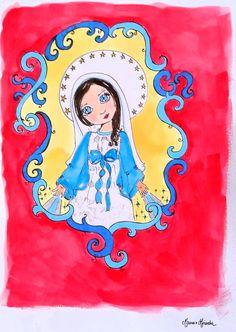 """Obra Original """"Nossa Senhora das Graças – criança"""""""