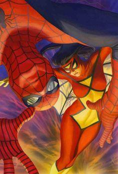 Spider-Woman & Spider-Man by Alex Ross