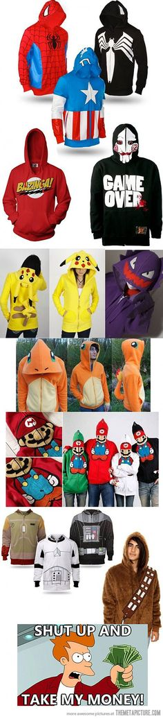 Creative hoodie designs. Some are nice!