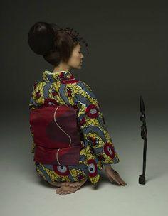Kimono fait de Wax www.atelierbijouxceramique.fr