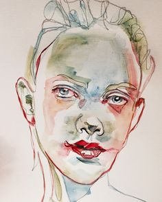 Concept Art, Illustration Art, Photoshop, Watercolor, Drawings, Faces, Inspire, Painting, Artists