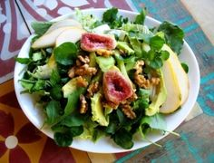 Fig, Pear & Avocado Salad by vivainstitute #Salad #Fig #Pear #vivainstitute by Logash