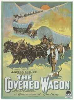 Vintage Silent Movie Poster Art Print, The Covered Wagon, Western