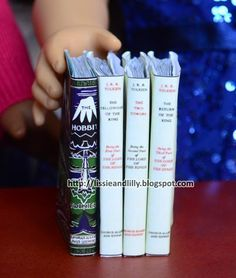 How to DIY craft books for American Girl Dolls Lissie & Lilly: Featured Etsy Shop: Jinga Mixed Goods & Giveaway