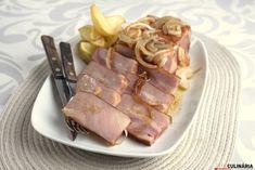 Receita de Bacon no forno com batatas. Descubra como cozinhar Bacon no forno com batatas de maneira prática e deliciosa com a Teleculinária!