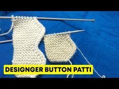 Designer Button Patti - डिज़ाइनर बटन पट्टी - YouTube