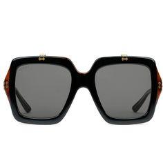7d7466f185 Gucci Oversize Square-Frame Acetate Sunglasses (6