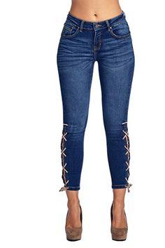 blue denim destroyed skinny jeans �������