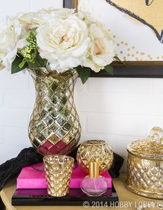 Home is where the sparkle is! Let these gold pieces do all the talking.