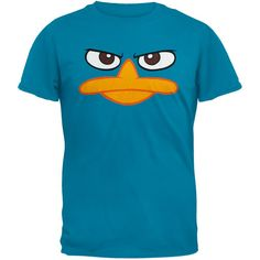 Phineas /& Ferb Perry the Platypus Personalized Custom Birthday Shirt in 8 Colors