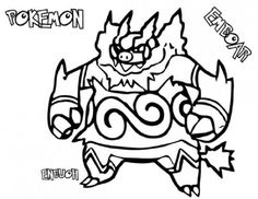pokemon coloring pages emboar