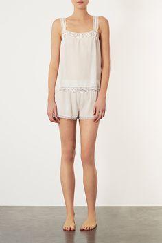 Vintage Silk Cami and Pyjama Shorts - Nightwear - Lingerie  Nightwear - Clothing - Topshop