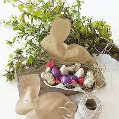 Da es mir momentan echt zu ungemütlich im Garten ist ( 🌧☔☁⛅), hab ich heute eine Kleinigkeit für Ostersonntag vorbereitet. Die Idee mit den Hasen habe ich bei Pinterest gesehen, darin eingenäht sind ein paar Schokoeier und Smarties für die Kinder.🐣🐇 Liebe Grüße 🙋 #ostern #easter #osterueberraschung #schokoeier #heu #eierpappe #kirschzweige #ilovemilka #diy #pinterest