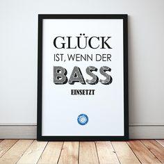 Typo Print für DJs mit Liebe zur elektronischen Musik / typo artprint, electronic music, wise words by carabeau via DaWanda.com