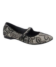 Black & Cream Lace Mary Jane Flat #zulily #zulilyfindsJust ordered my new shoes!! Yay!