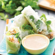 Roast Chicken Rice Paper Rolls