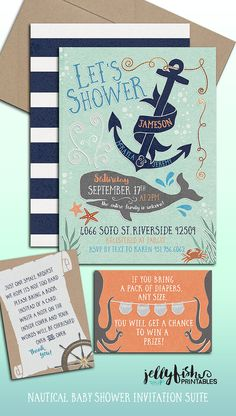 ocean nautical themed baby shower by on etsy