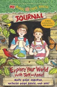 Buy a cheap copy of My Magic Tree House Journal: Explore Your World with Jack and Annie! A Fill-In Activity Book with Stickers! (Magic Tree House (R)) by Mary Pope Osborne, Natalie Pope Boyce 0385375050 9780385375054 - A gently used book at a great l House Journal, Book Journal, Family Tree Poster, Magic House, Rainbow Resource, Magic Treehouse, Home Learning, Your Turn, Book Nooks