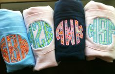 Monogram  Long sleeve Pocket T Shirt by KBembroidery on Etsy, $18.99