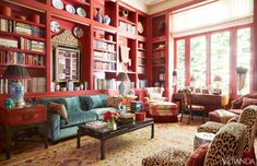 Living room in Texas home designed by Beverly Field