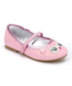 Another great find on #zulily! Pink Glitter Owl Ballet Flat #zulilyfinds