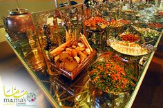 Enjoy all kinds of Mezza at Ajwan Tent, catered by Mama's Catering by Mezza House & Zaroob