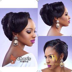 Nigerian wedding black bridal hair ideas and inspiration 37