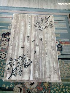 #sehpa #ahşap boyama #ağaç #kuşlar #siyah #eskitme #budak