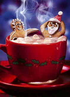 Niiiiice~~(^u^)~~ Christmas Coffee Break Christmas Coffee, Christmas Gingerbread, Noel Christmas, All Things Christmas, Christmas Cookies, Christmas Cards, Xmas, Gingerbread Cookies, Santa Cookies
