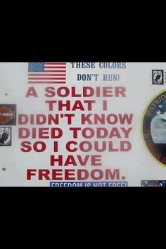 Freedom isn't free - #Thankful for our #Troops