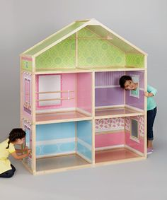Look what I found on #zulily! Dollie & Me Exclusive Deluxe Wood Dollhouse by Wicked Cool Toys #zulilyfinds