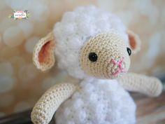 Little Crochet Lamb Amigurumi Free Pattern – Free Amigurumi Patterns Crochet Penguin, Crochet Monkey, Crochet Sheep, Crochet Teddy, Easter Crochet, Cute Crochet, Crochet Animals, Crochet Toys, Learn Crochet
