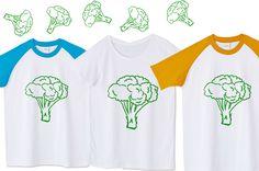 面白いブロッコリーの線画Tシャツ。ネタになります。