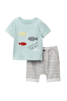 ED Ellen DeGeneres - Fish Shorts Set (Baby Boys 3-9M) is now 41% off. Free Shipping on orders over $100.