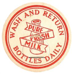 Knick of Time: Antique Graphics Wednesday - 4 Milk Bottle Caps