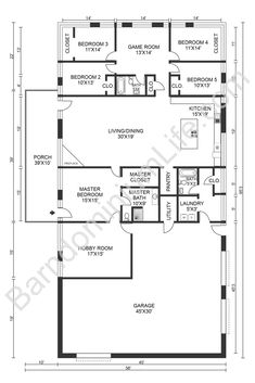 Barn House Plans, House Floor Plans, Bedroom Door Design, Barndominium Floor Plans, Bedroom Floor Plans, Pole Barn Homes, Master Bedroom Makeover, Metal Homes, Beautiful Bedrooms
