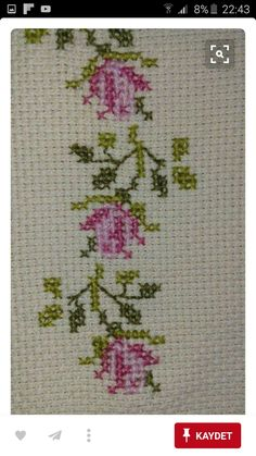 This Pin was discovered by Nur Funny Cross Stitch Patterns, Cross Stitch Heart, Cross Stitch Borders, Cross Stitch Alphabet, Cross Stitch Flowers, Cross Stitch Designs, Cross Stitching, Ribbon Embroidery, Cross Stitch Embroidery