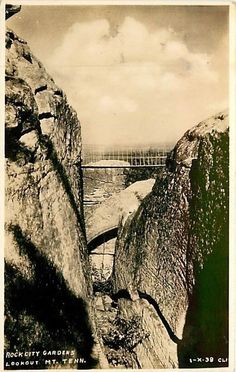 Tennessee, TN, Lookout Mountain, Rock City Gardens Real Photo Postcard