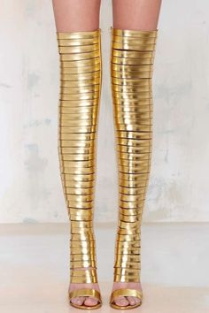 Jeffrey Campbell Blinded Thigh-High Heel Boot | Open Toe Shoes
