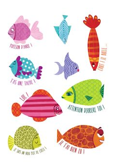 Poisson d'avril  Design creature, big, animal family and name.